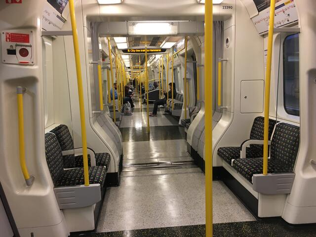 Tube Train with Plenty of Seating
