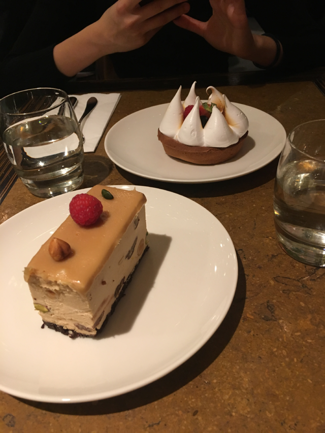Fancy desserts make goodbye feel a little better.