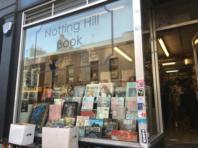 Notting Hill Book Exchange from the Outside
