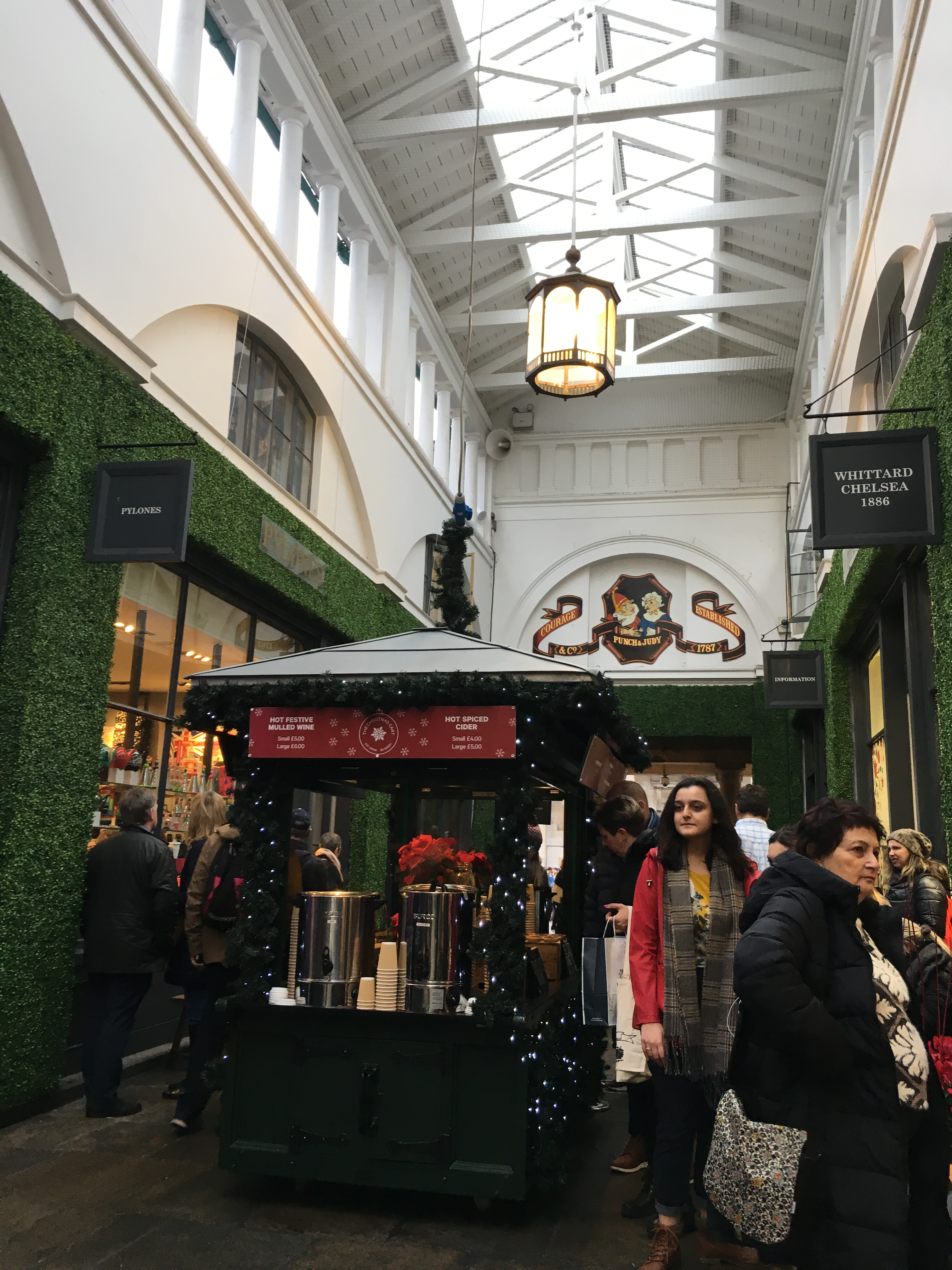 The inner court at Covent boasts a sweet cider stall