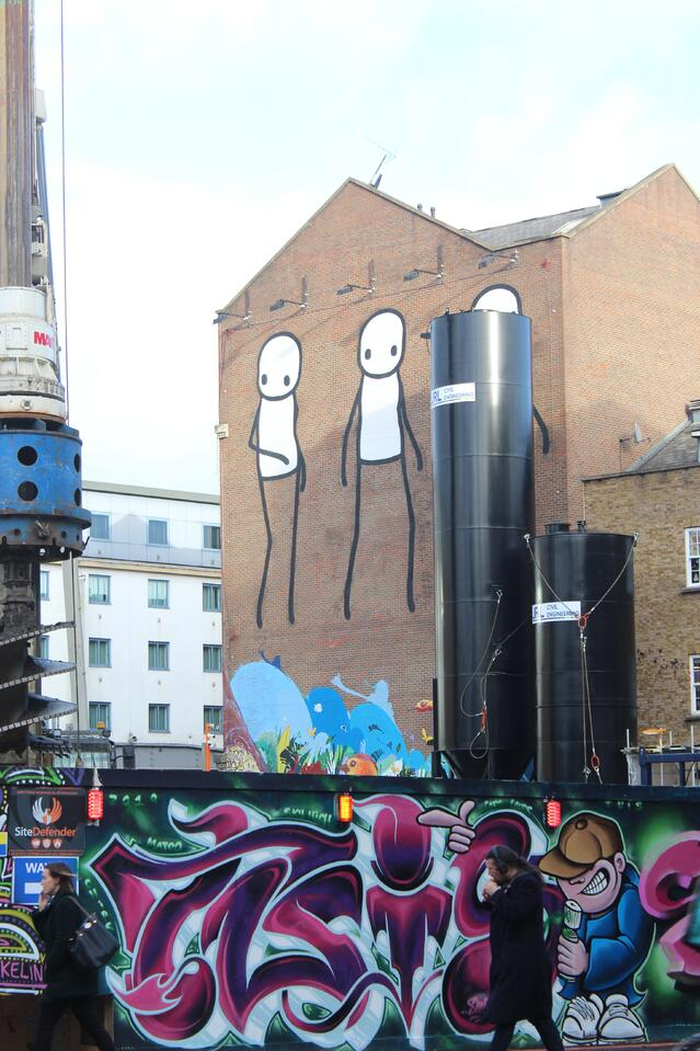 STIK is a popular street artist whose work decorates London.