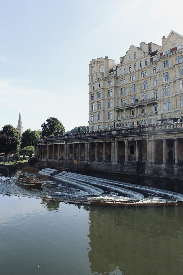 Water way in Bath, UK