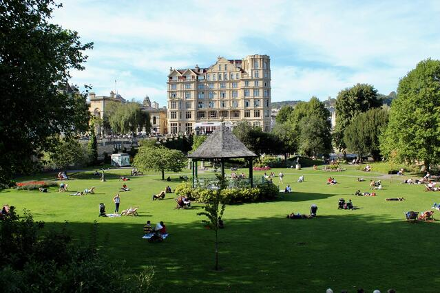 Pretty park in Bath, UK