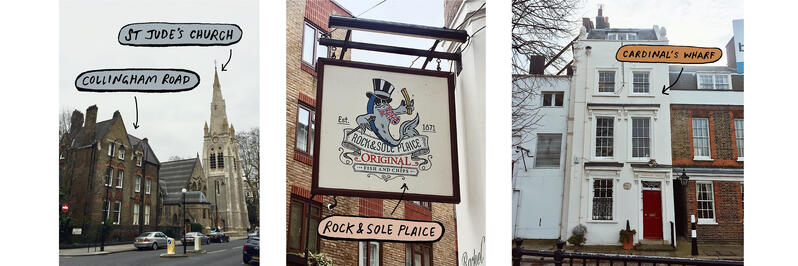 Sights and Locations Around London