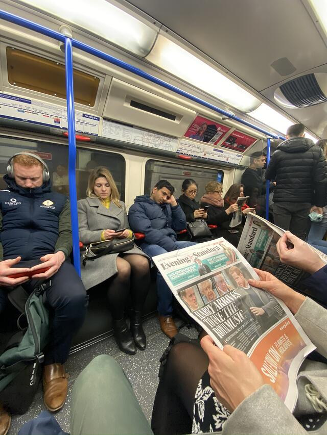 Londoners on the tube