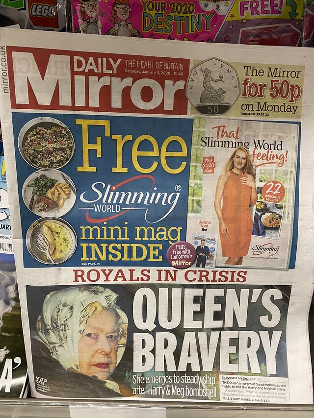 Tabloid in Tesco