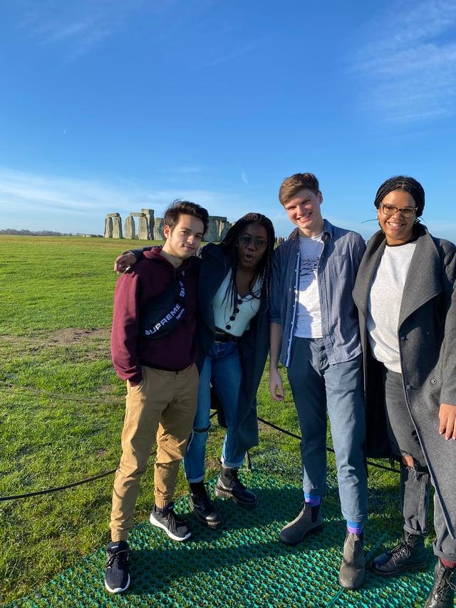 CAPAStudyAbroad_Spring2020_London_JamesNightengale_Friends at Stonehenge