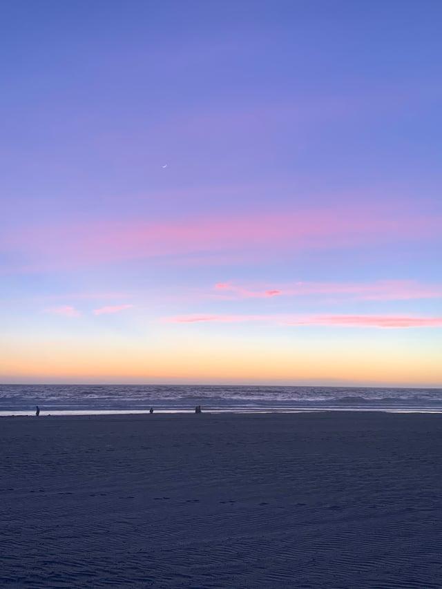 Sunset at Manhattan Beach.