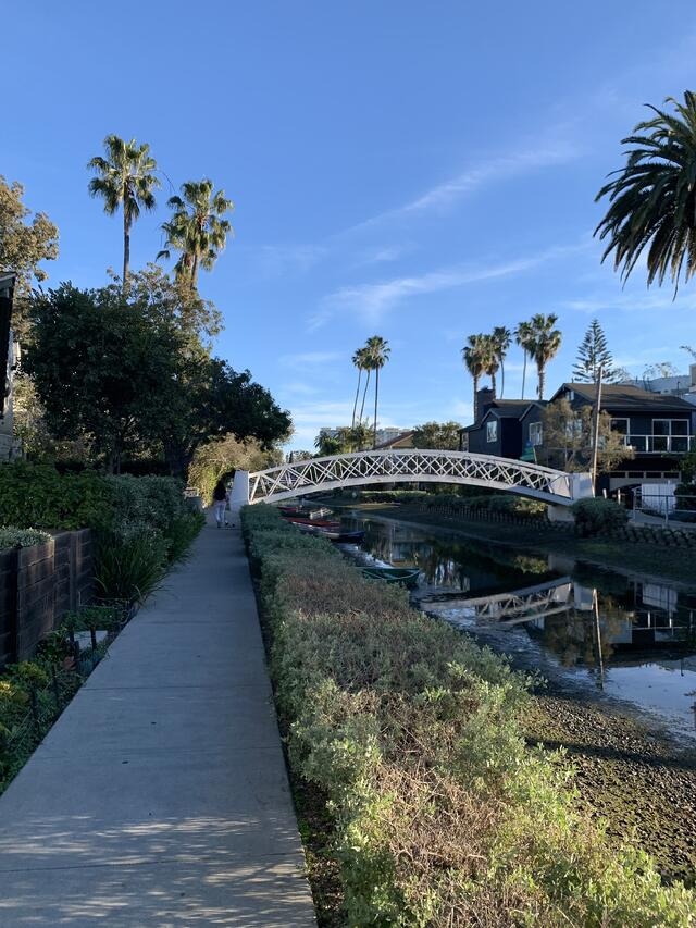 Exploring the Venice Canals in California.