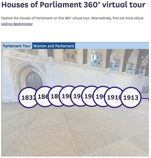 A virtual tour of London's Houses of Parliament.