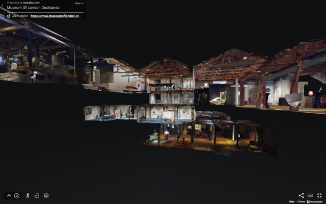 A virtual tour of the Museum of London Docklands.