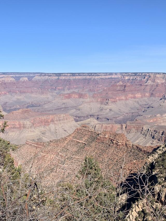 Our first view of the Grand Canyon from the side of the road.