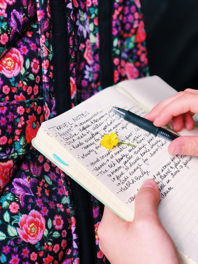 Journal Closeup