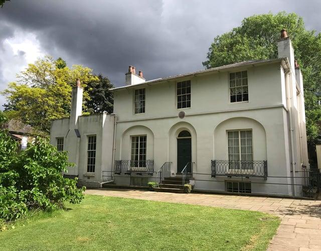 Outside the Keats House