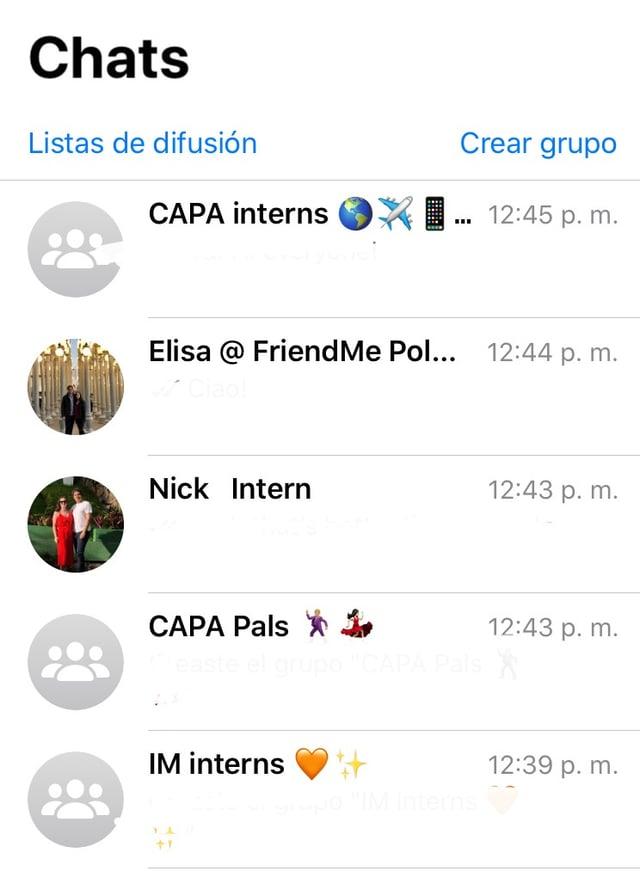 Chat Groups Screenshot