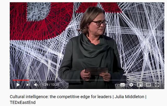 Check out Julia Middleton's TED talk on why cultural intelligence is important for future leaders.