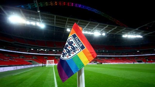 Rainbow Football Flag